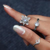 Moonstone Ring-Floral Euphoria
