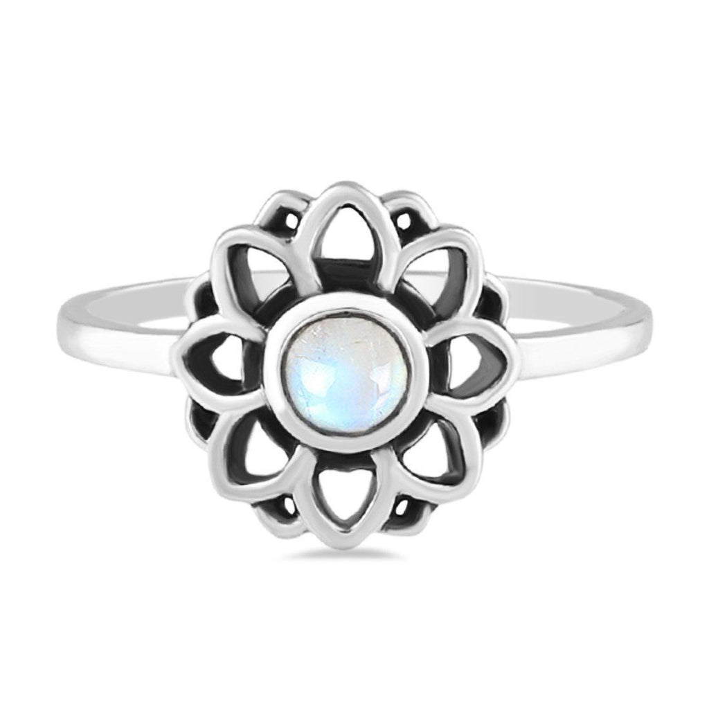 Moonstone Ring-Floral Glee