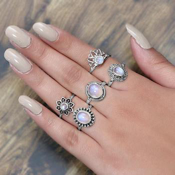 Moonstone Ring-Floral Highness