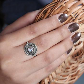 Moonstone Ring-Harmonious Devotion