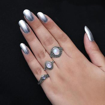 Moonstone Ring-Humble Siren