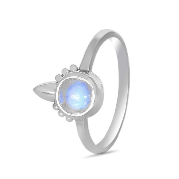 925 Silver Ring With Moonstone