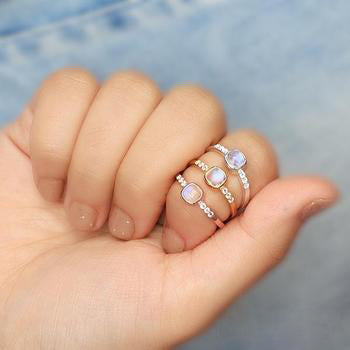 Moonstone Gold Ring - Leisure