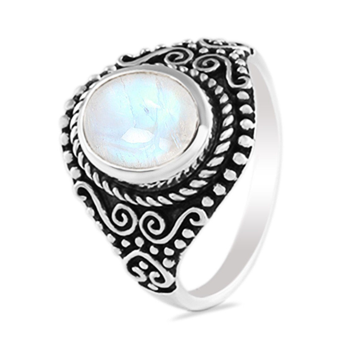 Moonstone Ring-Magical Alchemy Sale Item 925 SILVER & MOONSTONE