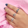 Moonstone Ring-Meshed Moon