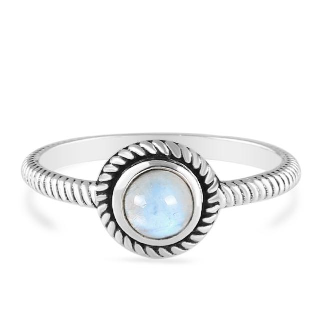 Moonstone Ring-Moon Cycle Moonstone Ring 925 SILVER & MOONSTONE
