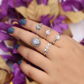 Moonstone Ring-Moon Cycle