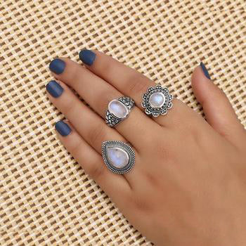 Moonstone Ring-Moonflower