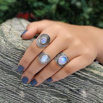 Moonstone Ring-Moon's Myth