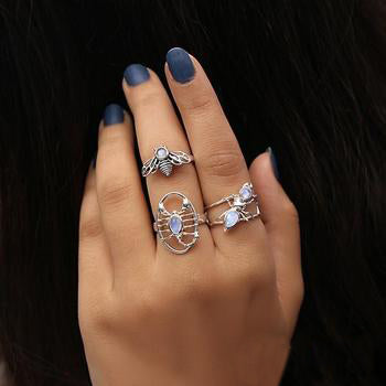 Moonstone Ring-Piccola Bee