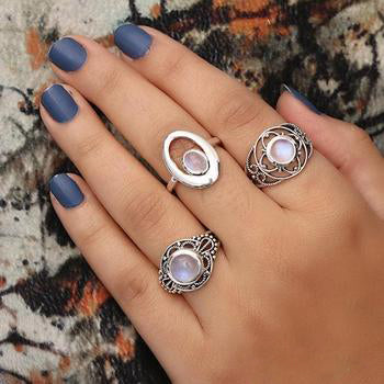 Moonstone Ring-Shielded Beauty