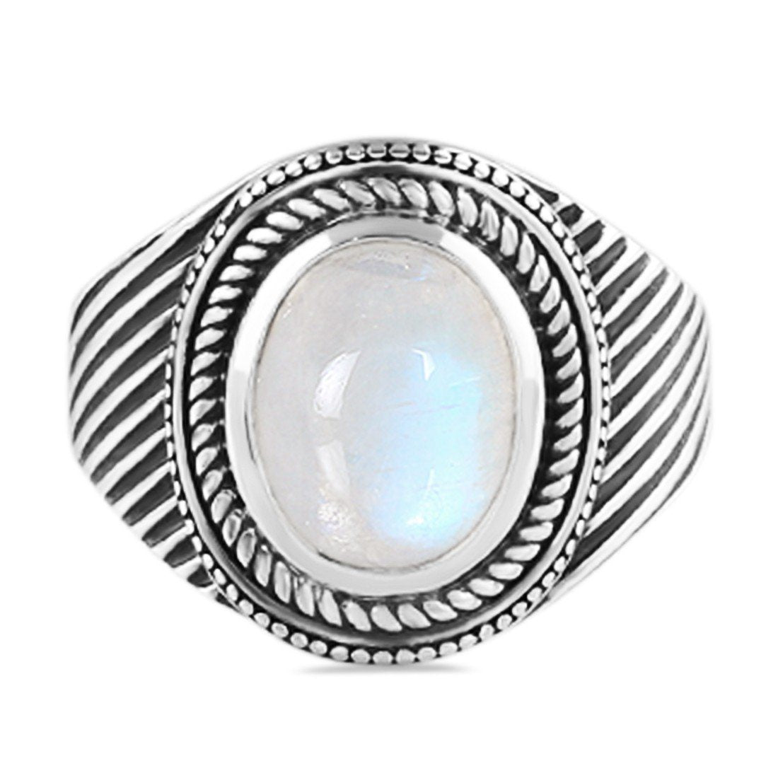 Moonstone Ring-Silver Moon Sale Item 925 SILVER & MOONSTONE