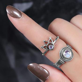 Moonstone Ring-Sleeping Beauty