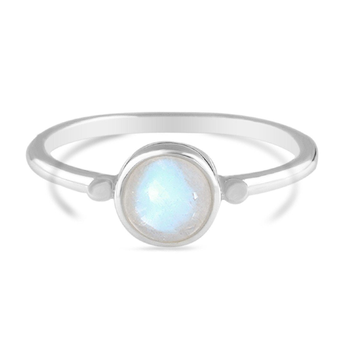 Moonstone Ring-Smooth Honor Moonstone Ring 925 SILVER & MOONSTONE