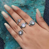 Moonstone Ring-Sparkling Moonshine
