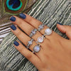 Moonstone Ring-Sparkling Shell