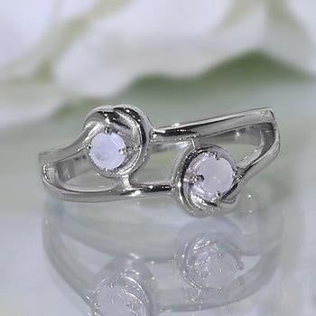 Moonstone Ring-Sterling Attraction