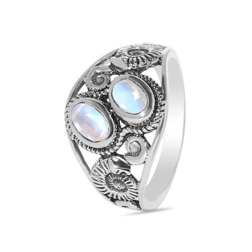 Moonstone Ring-Watchful Protector Sale Item 925 SILVER & MOONSTONE