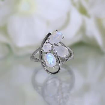 Moonstone Ring-Pliant Morning
