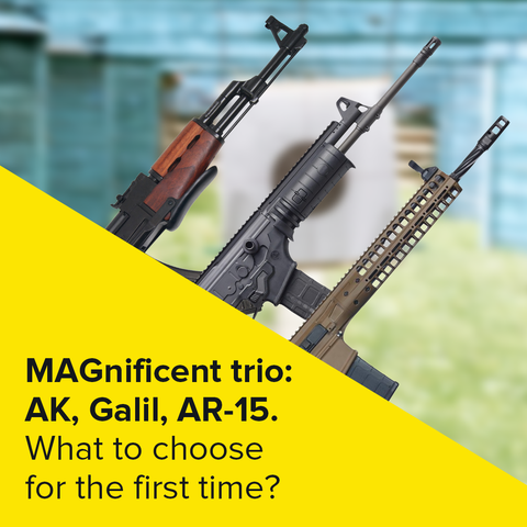 Magnificent trio: AK, Galil, AR-15. What to choose for the first time?