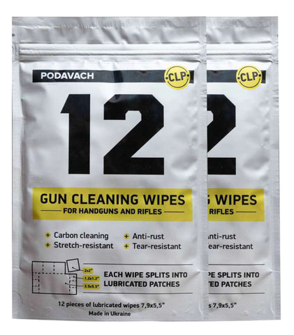 PODAVACH GUN CLEANING WIPES UPGRADE: CLEAN WORK FOR A CLEAN SHOT