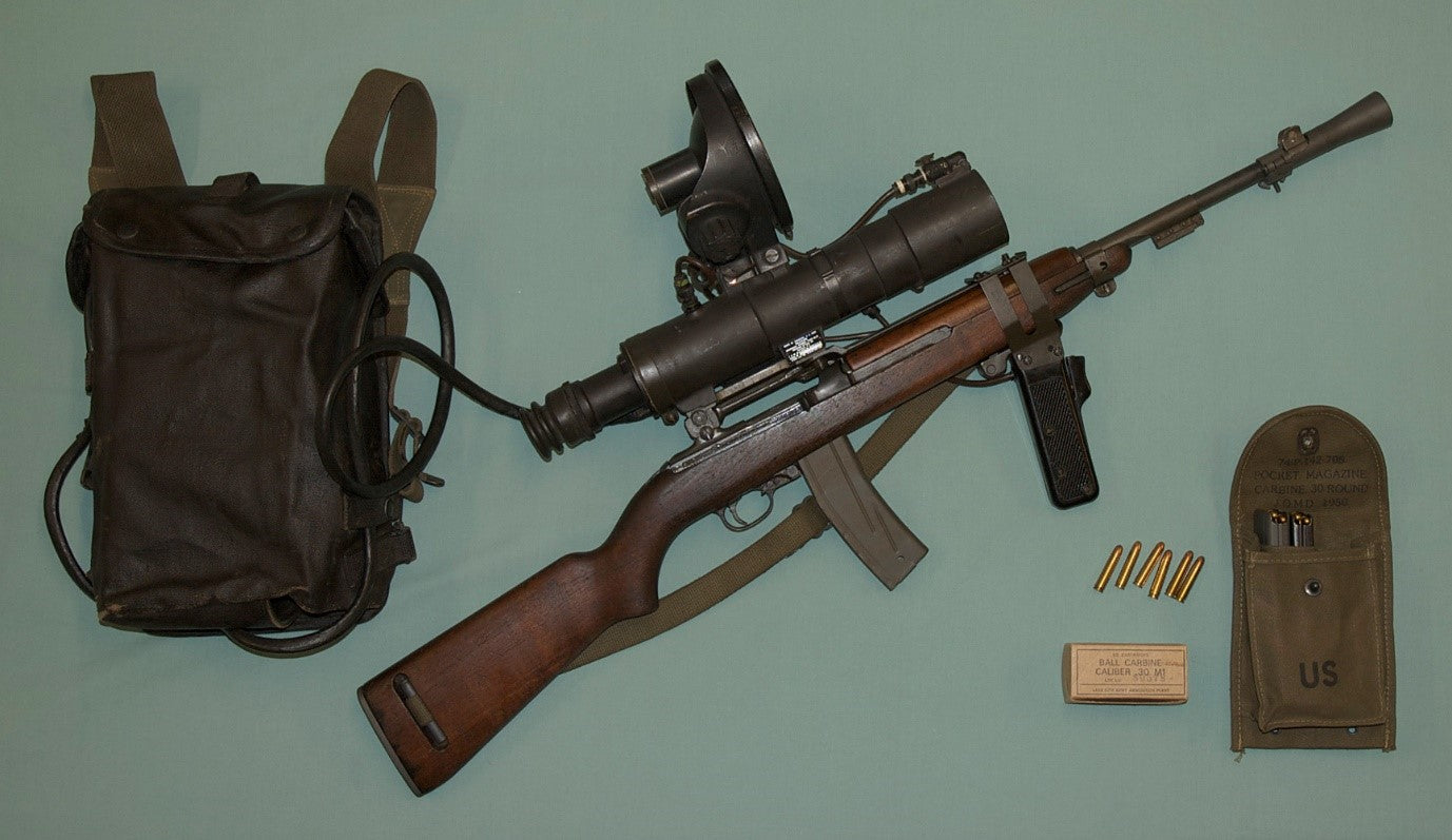 M3 Sniper Scope Fitted to an M1 Carbine