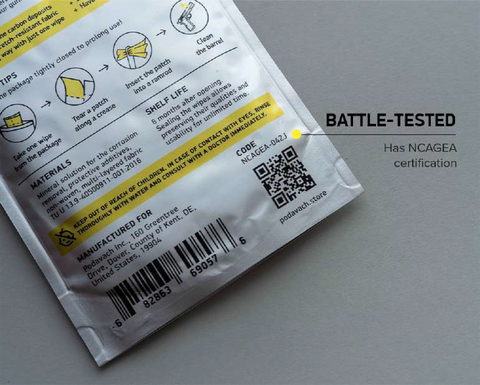 Battle tested gun wipes
