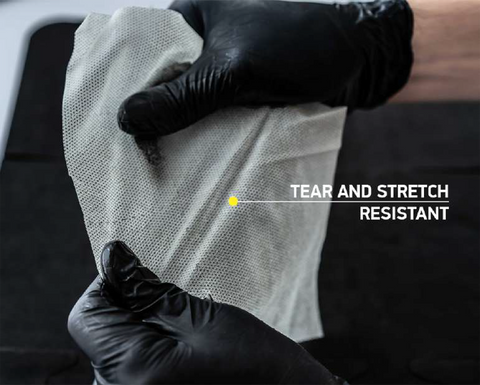 Strength and tear resistant gun cleaning cloth