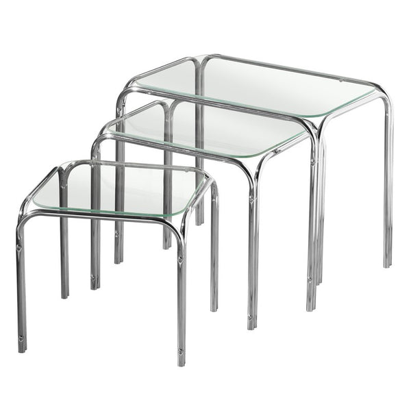 Calibra 3 Piece Nest Of Tables - Clear