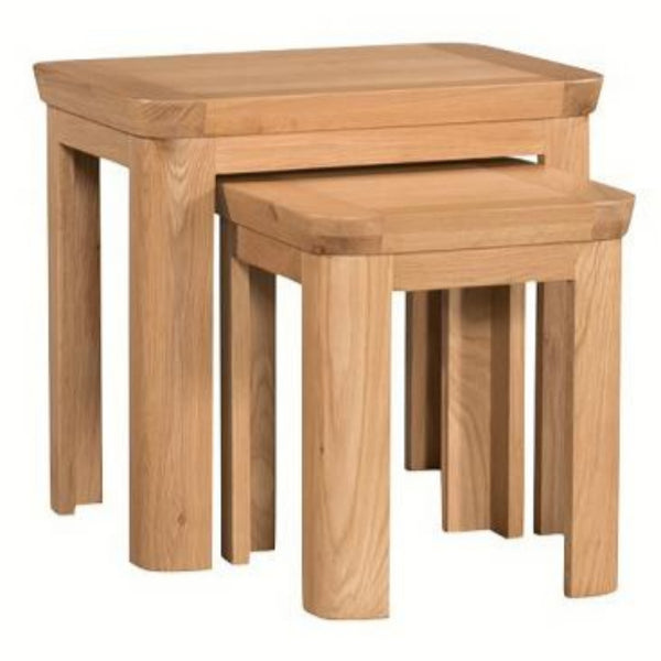 Titus Solid Oak Nest of Tables
