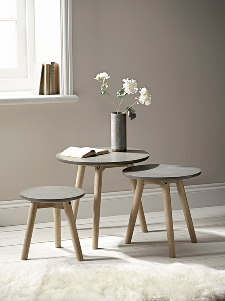 Daniella 3 Piece Nest of Tables - Grey