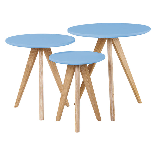 Cara 3 Piece Nest of Tables - Blue