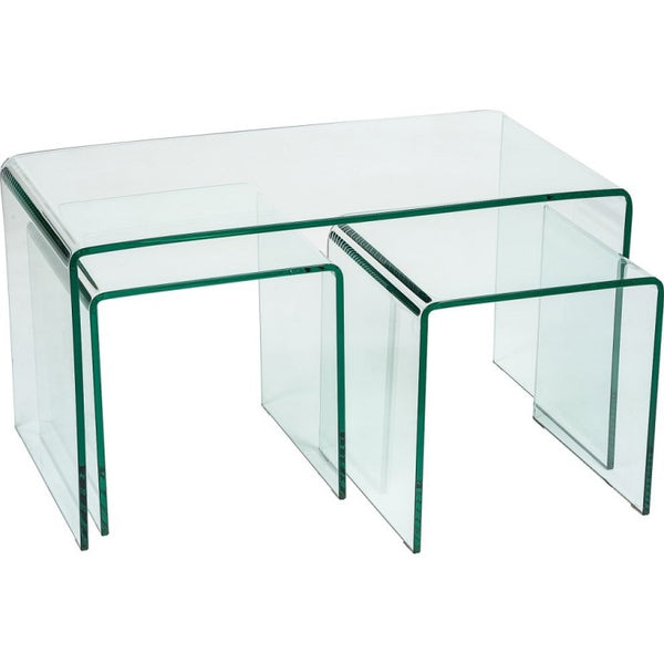 Mirage Glass Nest of Tables - Long