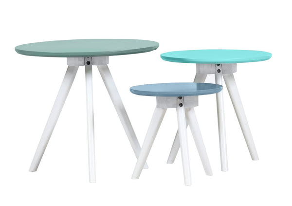 Erika 3 Piece Nest of Tables - Blue