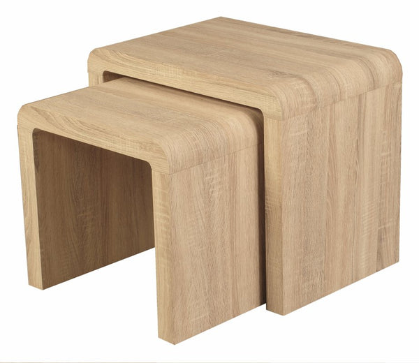 Preemo 2 Piece Nest of Tables - Light Oak