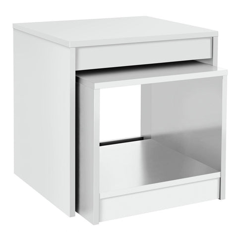 Magna 2 Piece of Nest of Tables - White
