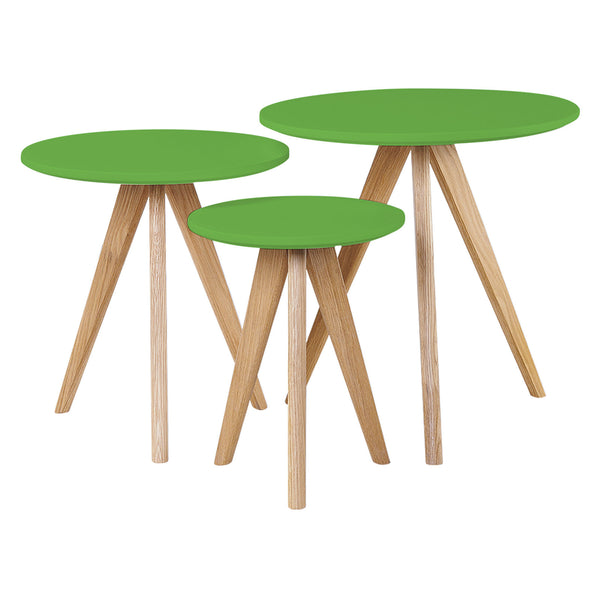 Cara 3 Piece Nest of Tables - Green