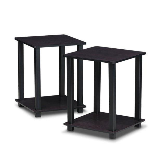 Fenton Side Tables Pair – Set Of 2 – Dark Walnut