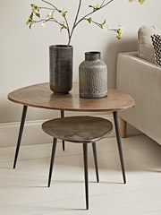 Kari Brass Topped Nesting Tables