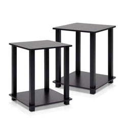 Fenton Side Tables Pair – Set Of 2 – Espresso/Black | BUY FROM NEST OF TABLES UK | FREE DELIVERY UK MAINLAND