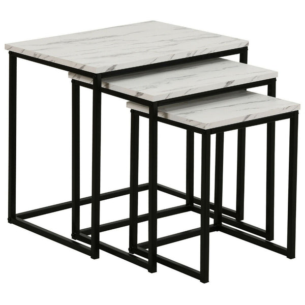 Nova Marble Metal Nest Of Tables