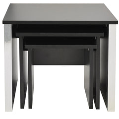 Black Ash & Chrome Nest of Tables