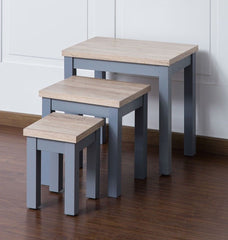 Two Tone Nest of Tables - Grey