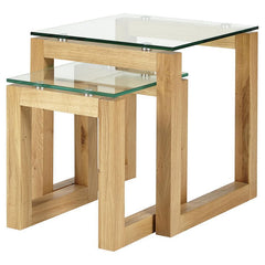 Phoenix Glass Top Nest Of Tables