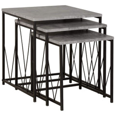 Ajax Black & Grey Nest Of Tables | NEST OF TABLES UK