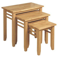 Remo Nest of Tables - Set Of 3 - Light Oak | BUY FROM NEST OF TABLES UK | FREE DELIVERY UK MAINLAND