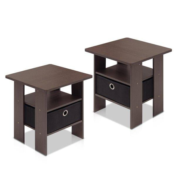 Amani 2 Piece Side Tables (Set of 2) - Dark Brown