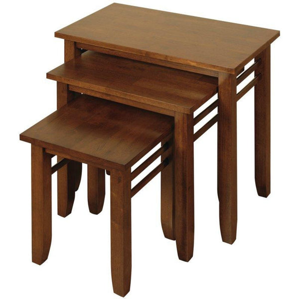 Remo 3 Piece Nest of Tables - Oak