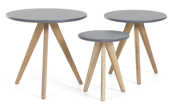 Cara 3 Piece Nest of Tables - Grey