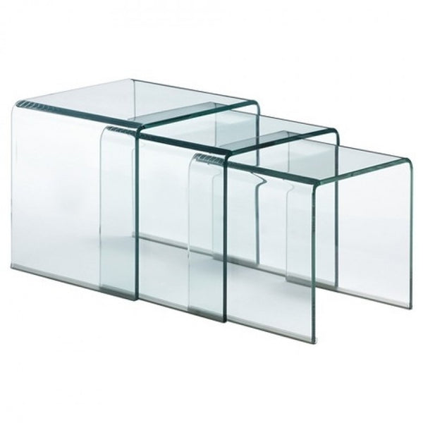Mirage Glass Nest of Tables